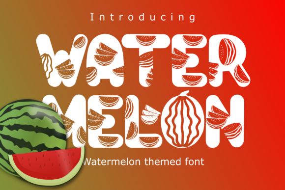 Print on Demand: Watermelon Display Font By Rusd studio