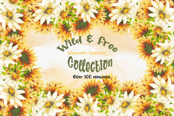 Download Free Wild Free Sunflower Collection Graphic By Andreea Eremia for Cricut Explore, Silhouette and other cutting machines.