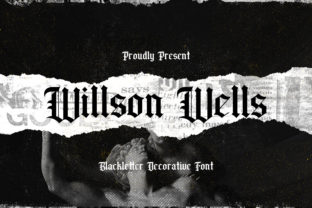 Print on Demand: Wilson Wells Blackletter Font By StringLabs