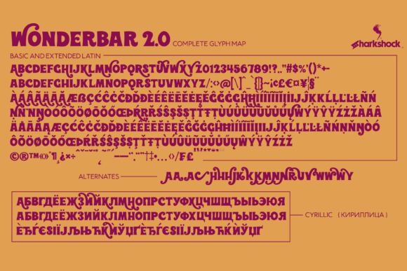Print on Demand: Wonderbar 2.0 Display Font By Sharkshock - Image 2