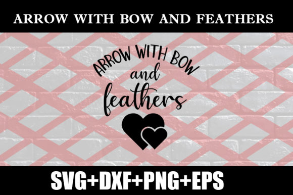 Download Free Arrow With Bow And Feathers Graphic By Design Store Creative for Cricut Explore, Silhouette and other cutting machines.