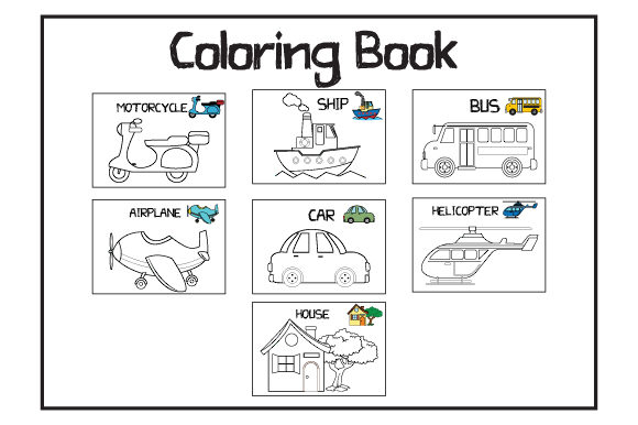 Print on Demand: Coloring Book for Kids Graphic Coloring Pages & Books Kids By curutdesign