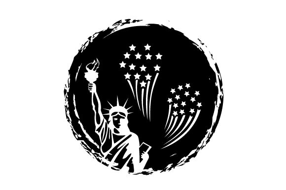 Statue of Liberty with Fireworks Independence Day Craft Cut File By Creative Fabrica Crafts - Image 2