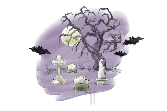 Spooky Cemetery Halloween Craft Cut File By Creative Fabrica Crafts