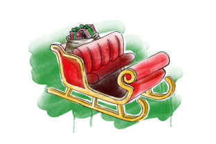 Sleigh Christmas Craft Cut File By Creative Fabrica Crafts