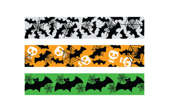 Halloween Bats Web Ribbons Halloween Plotterdatei von Creative Fabrica Crafts