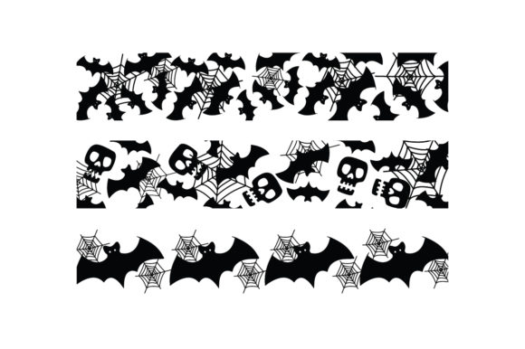 Halloween Bats Web Ribbons Halloween Craft Cut File By Creative Fabrica Crafts - Image 2
