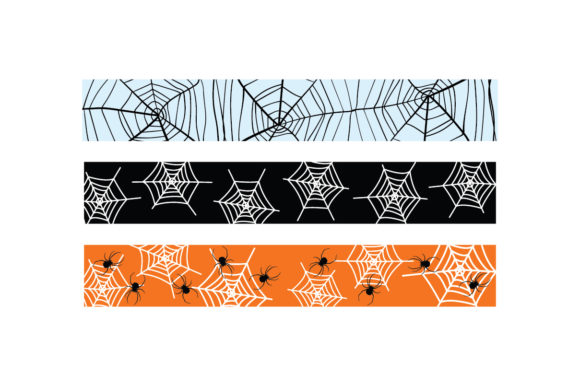 Halloween Spider Web Ribbons Halloween Plotterdatei von Creative Fabrica Crafts