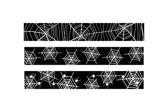 Halloween Spider Web Ribbons Cut File Download