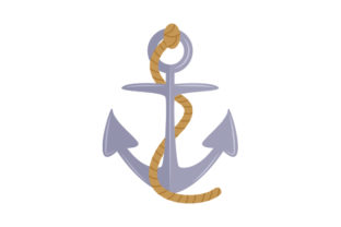 Anchor with Rope Nautical Craft Cut File By Creative Fabrica Crafts