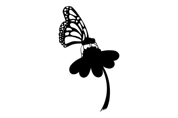 Butterfly on Flower Animals Craft Cut File By Creative Fabrica Crafts - Image 2