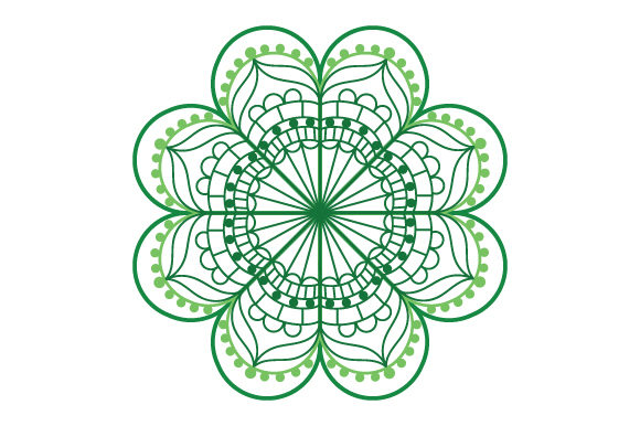 Four-leaf Clover Mandala Mandalas Craft Cut File By Creative Fabrica Crafts