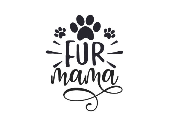 Fur Mama Perros Archivo de Corte Craft Por Creative Fabrica Crafts