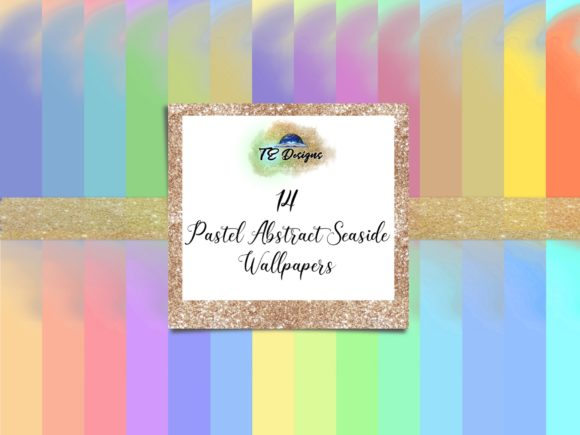Print on Demand: Abstract Seaside Wallpapers Vol 1 Graphic Backgrounds By TE Designs