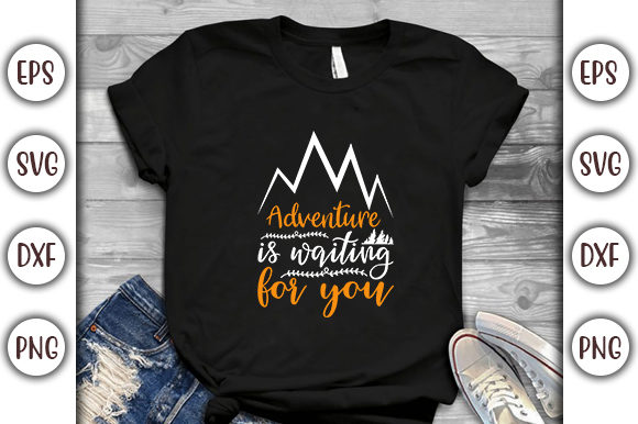 Print on Demand: Adventure is Waiting for You Graphic Print Templates By GraphicsBooth