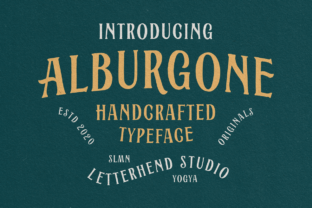 Print on Demand: Alburgone Display Font By letterhend