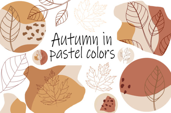 Autumn in Pastel Colors Graphic Illustrations By shishkovaiv