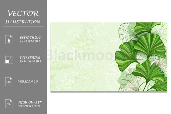 Background with Leaves of Ginkgo Biloba Graphic Backgrounds By Blackmoon9