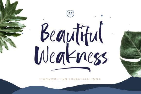 Download Free Beautiful Weakness Font By Saridezra Creative Fabrica for Cricut Explore, Silhouette and other cutting machines.