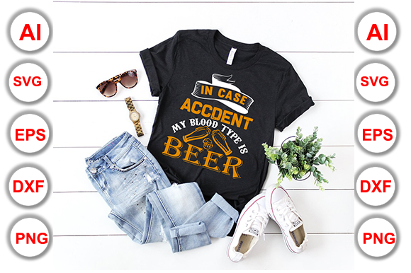 Beer T-Shirt Design Graphic Print Templates By Graphics Cafe