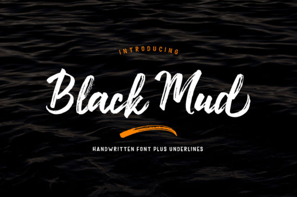 Print on Demand: Black Mud Script & Handwritten Font By Stripes Studio