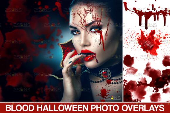 Blood Photo Halloween Overlays Graphic Actions & Presets By 2SUNS