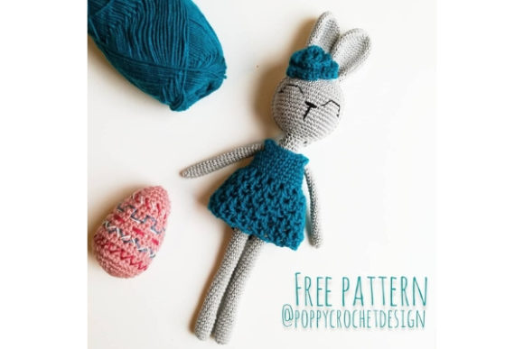 Bunny in Blue Dress Crochet Pattern Graphic Crochet Patterns By Needle Craft Patterns Freebies