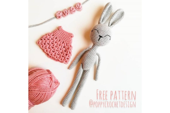 Bunny in Pink Dress Crochet Pattern Graphic Crochet Patterns By Needle Craft Patterns Freebies