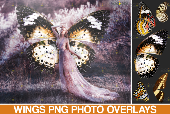 Butterfly Wings Photoshop Overlays Graphic Actions & Presets By 2SUNS
