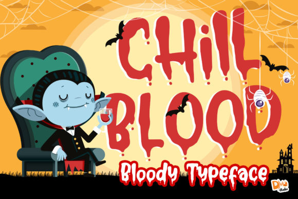 Print on Demand: Chill Blood Script & Handwritten Font By dmletter31