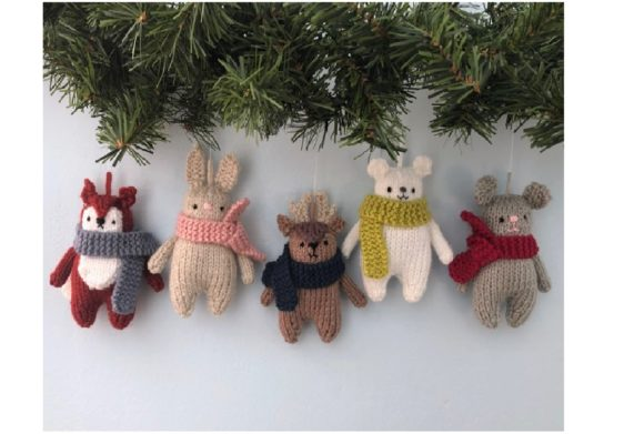 Christmas Animals Knit Ornament Pattern Graphic Knitting Patterns By Amy Gaines Amigurumi Patterns - Image 2