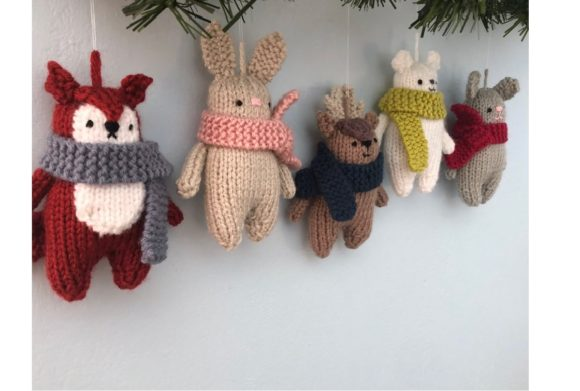 Christmas Animals Knit Ornament Pattern Graphic Knitting Patterns By Amy Gaines Amigurumi Patterns - Image 3