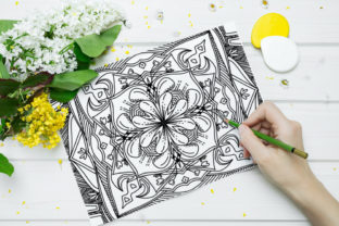 Print on Demand: Coloring Book Complex Geometric Num - 03 Graphic Coloring Pages & Books Adults By stanosh 2