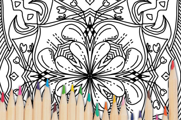 Print on Demand: Coloring Book Complex Geometric Num - 03 Graphic Coloring Pages & Books Adults By stanosh - Image 3
