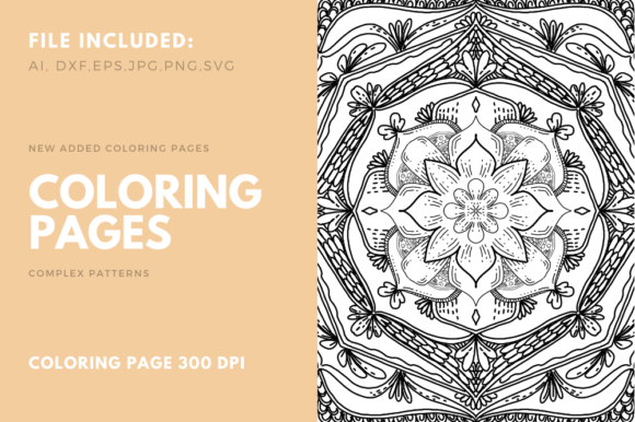 Print on Demand: Coloring Book Complex Geometric Num - 04 Graphic Coloring Pages & Books Adults By stanosh