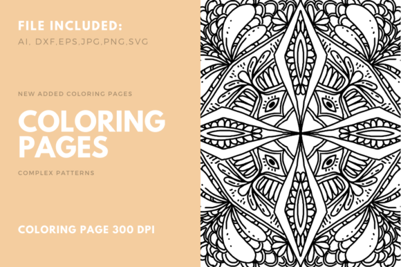 Print on Demand: Coloring Book Complex Geometric Num - 06 Graphic Coloring Pages & Books Adults By stanosh