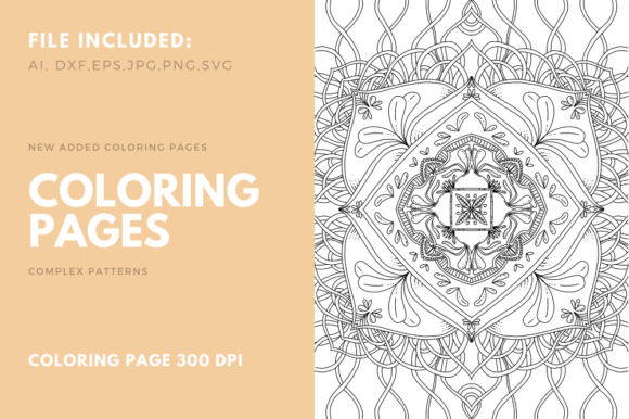 Print on Demand: Coloring Book Complex Geometric Num - 09 Graphic Coloring Pages & Books Adults By stanosh