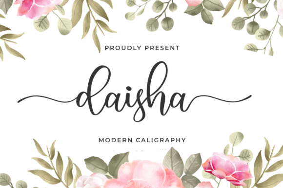 Print on Demand: Daisha Script & Handwritten Font By R. Studio