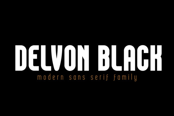 Print on Demand: Delvon Black Sans Serif Font By madeDeduk