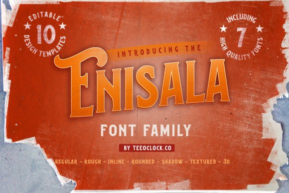 Print on Demand: Enisala Display Font By teeoclock.co