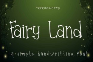 Print on Demand: Fairy Land Script & Handwritten Font By Supersemar Letter