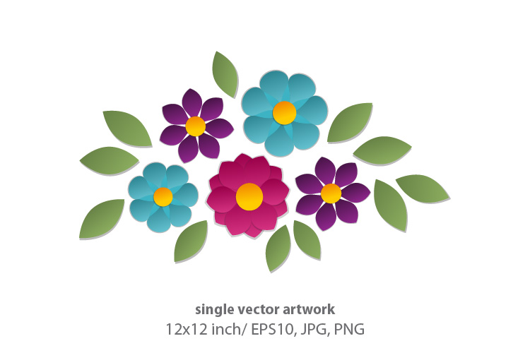 Download Free Floral Single Vector Artwork Graphic By Biljanacvetanovic for Cricut Explore, Silhouette and other cutting machines.