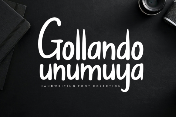 Print on Demand: Gollando Unumuya Script & Handwritten Font By CREATIVEWHITE