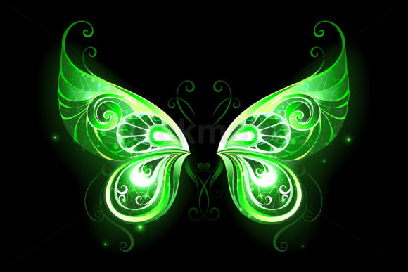Green Fairy Wings Graphic Illustrations By Blackmoon9