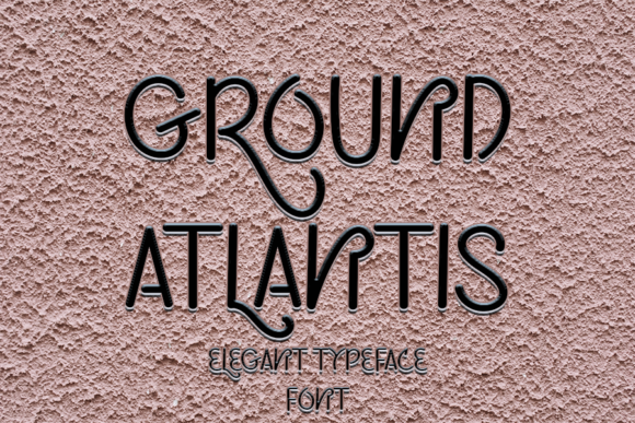 Print on Demand: Ground Atlantis Sans Serif Font By Inermedia STUDIO
