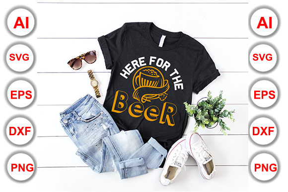 Happy Beer Day T-Shirt Vector Illustrate Graphic Print Templates By Graphics Cafe - Image 1