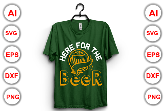 Happy Beer Day T-Shirt Vector Illustrate Graphic Print Templates By Graphics Cafe - Image 3