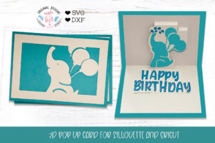 Happy Birthday Pop Up Card Graphic Crafts By GraphicHouseDesign