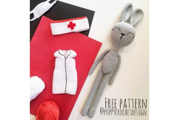 Health Care Worker Bunny Crochet Pattern Graphic Crochet Patterns By Needle Craft Patterns Freebies