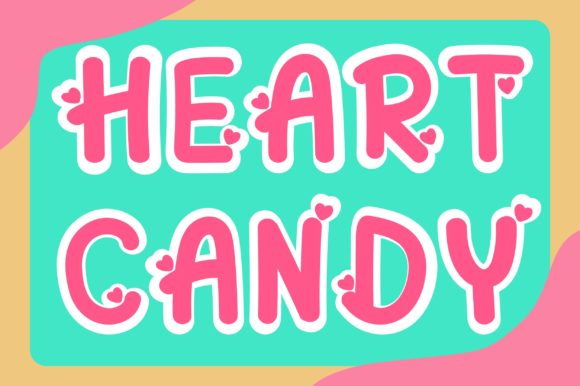 Print on Demand: Heart Candy Display Font By PearlyDaisy
